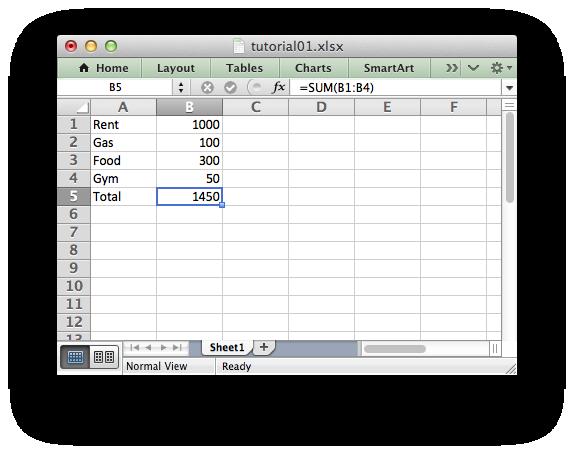 libxlsxwriter: Tutorial 1: Create a simple XLSX file